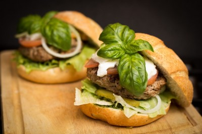 gesunder hamburger