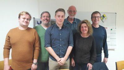 v.l. Martin Breitenstein, Holger Schelte, Nils Niggemann, Ulrich Werkle, Ursula Mintrop, Peter Feigl