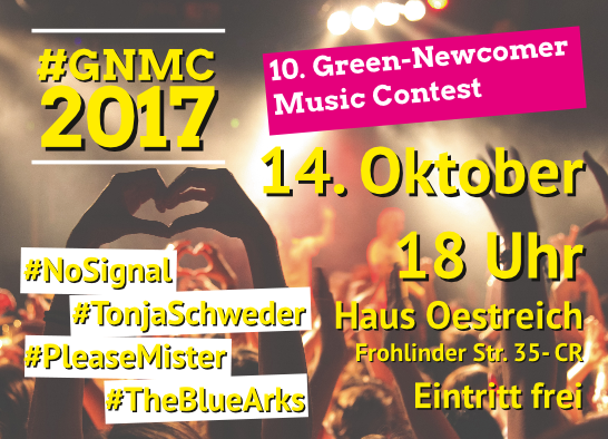 10. Green-Newcomer Music-Contest: Finale im Haus Oe