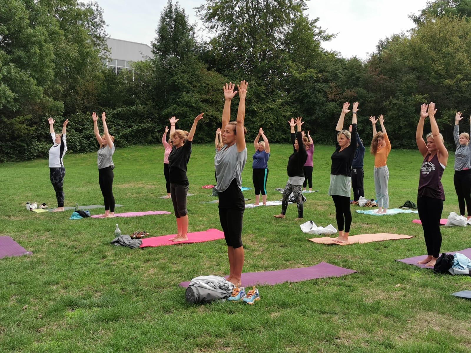 Yoga im Freien mit der Grünen Jugend