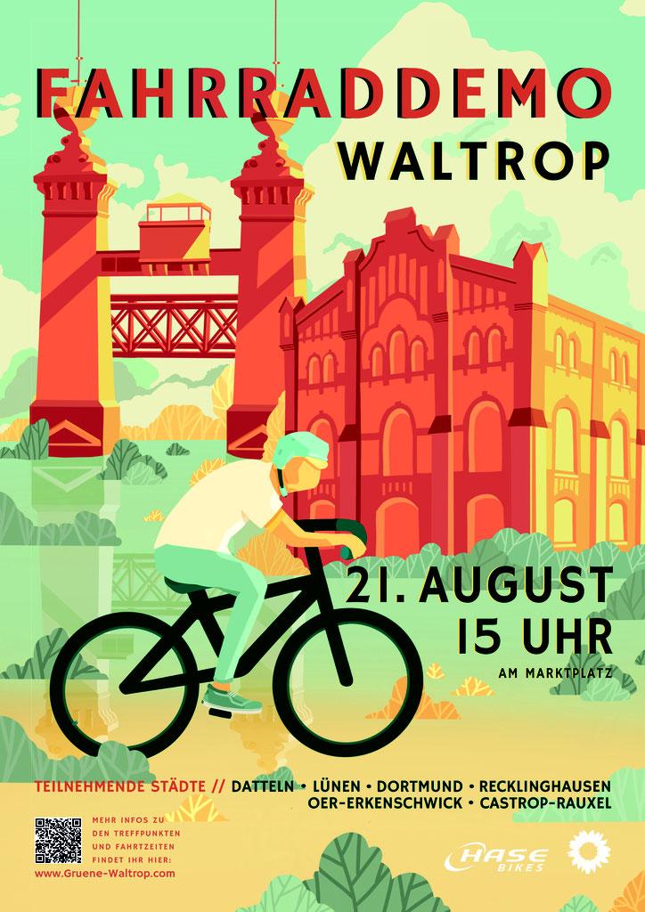 Fahrraddemo – Autos weichen für Speichen am Samstag, dem 21.08.2021